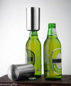 Personalized Push Down Action Beer & Bottle Opener