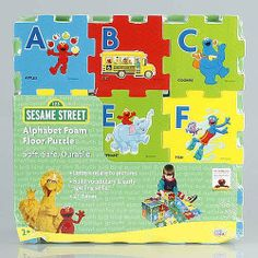Sesame Street Alphabet Foam Floor Puzzle by Verdes, http://www.amazon.com/dp/B0032NZI0E/ref=cm_sw_r_pi_dp_UHOOqb1T65Z2Z