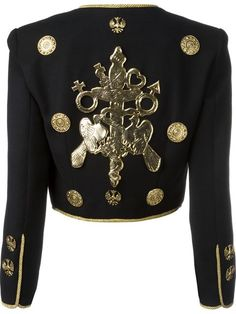 """Comprar Moschino Vintage chaqueta """"Spencer"""" Moschino Couture en House of Liza from the world's best independent boutiques at farfetch.com. Descubre 400 boutiques en 1 sola dirección."""