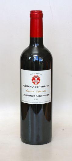 Gerard Bertrand Réserve Special Cabernet Sauvignon 2012 Gerard Bertrand, Cabernet Sauvignon, Red Wine, Alcoholic Drinks, Glass, Drinkware, Corning Glass, Liquor Drinks, Alcoholic Beverages