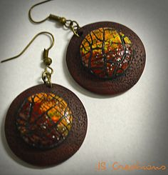 It's all about the crackle series - polymer clay earrings