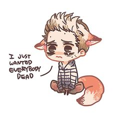 My god cute nogitsune Stiles !  Really love this picture, think I might make this my background