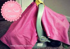 DIY Car Seat Cover. Easy 10 Step Tutorial with photos. #DIY #EasySewingProjects