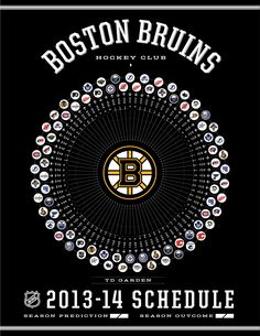 Boston Bruins 2013 Schedule... now literally counting the days