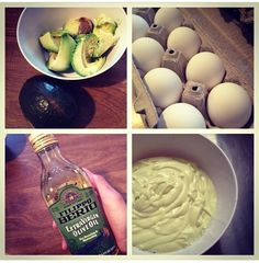 Hair mask! 1 whole avocado, 1/2 cup of EVOO, 1 cup of mayonnaise, 2 eggs. Purée in blender. Saturate hair & place a shower cap on hair and leave on for 30 minutes to an hour.