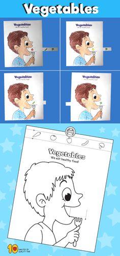 Child Eating Vegetables - Paper Craft