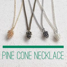 Do you remember my darling little pine cone necklace? Well now I make them in 4 colors!! Shiny silver antique silver bronze and gold! It is an adorable and very affordable gift idea for valentines! Only $9.95 with a 16 inch chain. Go check them out! They are quite popular.  www.rachelle-isms.com #rachelleisms #pinecone #pinecones #adorable #socute #handmadewithlove #handmadegifts #handmadejewellery #handmadejewelry #naturelovers #nature_collection #naturelover #valentineday #valentinegift…