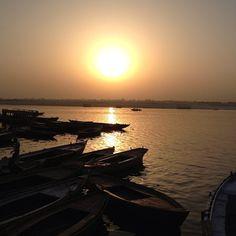 The ghats of Varanasi in Varanasi, Uttar Pradesh