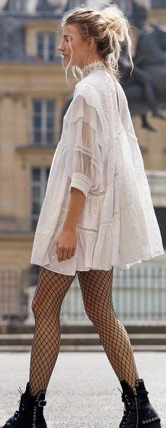 Street Style ~ Veronika Heilbrunner. #grunge_street_style #grungeoutfits