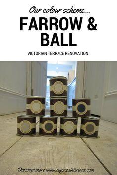Our Farrow & Ball colour scheme | Victorian terrace complete renovation and redesign | Richmond, Surrey | Discover more www.mycasainteriors.com Victorian Terrace, Victorian Homes, Luxury Home Decor, Luxury Homes, Richmond Surrey, Paint Color Schemes, Farrow Ball, Home Renovation, Street