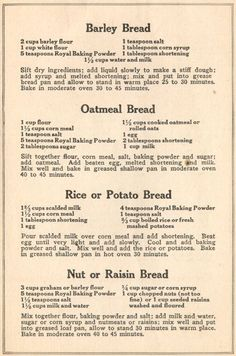 World War 1 Food Recipes - Bing Images