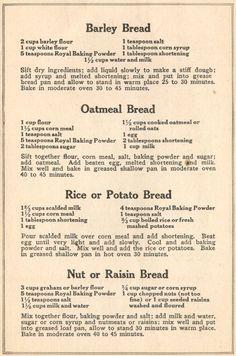 World War 1 Food Recipes - Bing Images