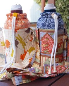 Another water bottle carrier, 'heartofmary' style - PURSES, BAGS, WALLETS
