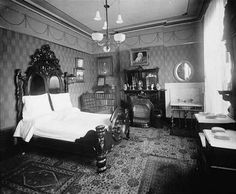 Bedroom interior 1880's by gaswizard, via Flickr