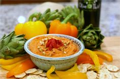 Red Pepper Hummus Feature