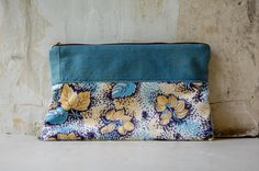 vintage and hand dyed cotton pouch by enhabiten on Etsy, $35.00