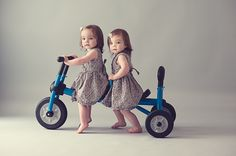 Double push tricycle.