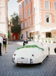 Featured Photographer:Sandra Åberg Photography; Wedding getaway cars ideas.
