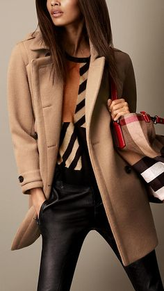 Wool Cashmere Cocoon Coat | Burberry Brit A/W 2013