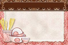 Baking Pink Swirl Recipe card