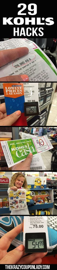 24 Genius Kohl's Shopping Hacks - - Next time you're shopping Kohl's, you could save an average of (sometimes more!), thanks to Kohl's coupons and these savings tips and tricks. In fact, you'll be a Kohl's shopping pro once you l. Save Your Money, Ways To Save Money, Money Tips, Money Saving Tips, How To Make Money, Money Savers, Money Hacks, Big Money, Shopping Coupons