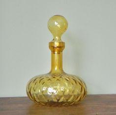 Vintage Amber Decanter
