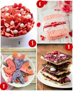28 Days of Kid's Valentine's Day Food Crafts on Frugal Coupon Living.  Watermelon Heart Fruit Salad, Cinnamon Red Hots Shortbread Cookies, Valentine Heart Confetti Pancakes and Valentine M&M Bark
