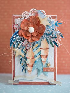 Crafty by AgnieszkaBe Say Hello, Burlap Wreath, I Card, Christmas Cards, Gift Wrapping, Crafty, Creative, Gifts, Decor
