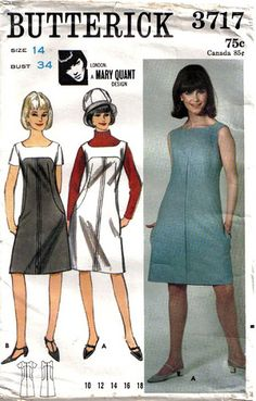 Mary Quant Butterick pattern