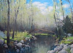 """Brush Creek Ranch"" painting by artist Randall David Tipton"