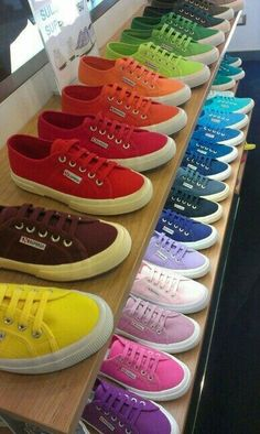 My favourite trainer the Superga . i have 3 pairs and still want more. Superga UK thankyou for such wonderful shoes! Taste The Rainbow, Over The Rainbow, World Of Color, Color Of Life, Happy Colors, True Colors, Zapatillas All Star, Composition Photo, Color Explosion