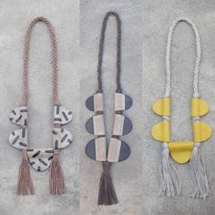 Fanny Penny's handmade stoneware and rope necklaces