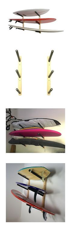 Storage and Display Racks 159164: Surfboard Wall Rack | Basic Wood Surf Rack | 3 Boards | Storeyourboard -> BUY IT NOW ONLY: $59.91 on eBay!