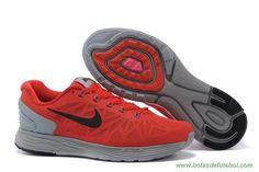 Masculino LunarGlide-006 Sport Vermelho Preto lobo cinzento Nike LunarGlide 6 chuteiras para vender