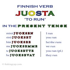 The Finnish Verb Type Course Finnish Grammar, Finnish Words, Finnish Language, Learn Finnish, Studying, Languages, Type 3, Norway, Vocabulary