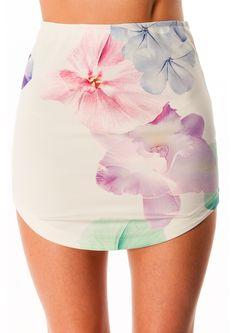 Mango Daiquiri Skirt- White/ Floral $29.95 Express Shipping