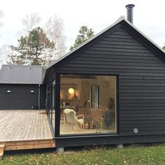 Modular homes by Denmark based Black House Exterior, Exterior House Colors, Exterior Design, Modular Homes, Prefab Homes, Casas Containers, Affordable Housing, Home Fashion, Cabana