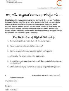 Our Digital Citizenship Pledge