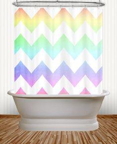 Watercolor Chevron  Pastel Rainbow Chevron by artbycmcdonald, $59.99