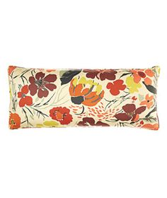 Hot House Floral Fall cotton pillow (15 by 35 inches), $154, pineconehill.com.