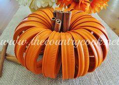 The Country Cook: Mason Jar Lid Pumpkins