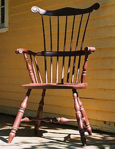 Beautiful Colonial furniture like this Philadelphia Comb Back Windsor chair.