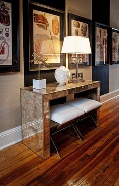 Hallway: Madison Reverse Mirror Console Table   Tonic Home