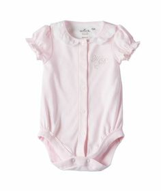 Available exclusively online from Hallmark Baby, beautiful Baby clothes including these Baby Girl Little Darlings Short Sleeve Body Suit  Pink made of 100% soft brushed cotton