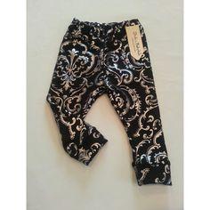 Metallic Silver &  Black  Baby Leggings...Hipster Leggings..Baby Leggings... on Etsy, $20.00