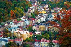 Karlovy Vary, Czech Republic--I love all the colours!