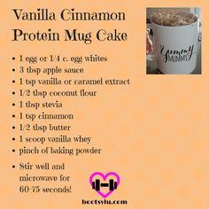 Vanilla Cinnamon Protein Mug Cake More