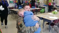 Missouri soldier returns home early and surprises son at school — Fox News Soldier Surprises, Soldiers Returning Home, Easy Hairstyles, Missouri, Wednesday, Families, Sons, Army, My Love