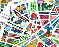 Mapa de colores de París | París Time Out