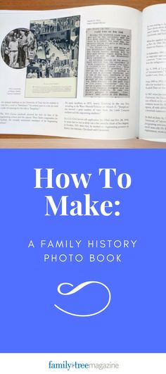 making a family history book